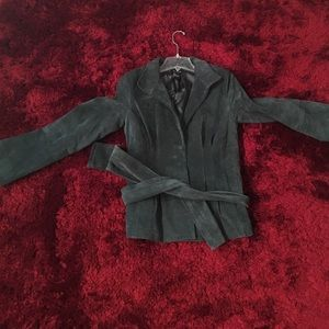 Karen Kane Jackets & Blazers - Hunter green suede jacket