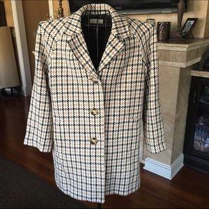 Michael Michael Kors Plaid Coat Size Medium