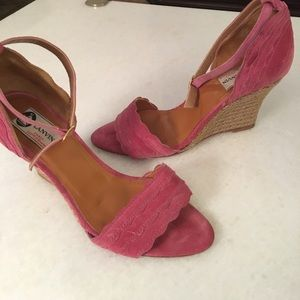 Lanvin Shoes - Lanvin Suede Wedge Sandler