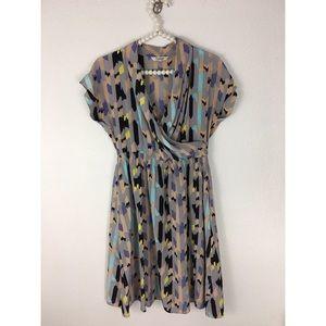 Tucker Dresses & Skirts - Tucker Watercolor Silk Dress Sz M