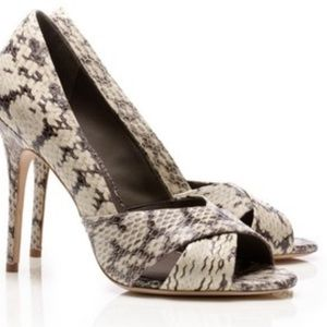 Tory Burch Amira Python Embossed leather