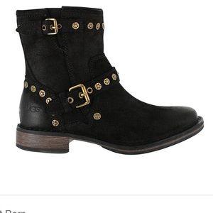 UGG Fabrizia Black Leather boots
