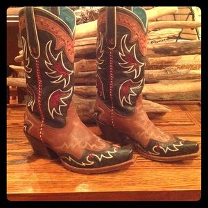 Tony Lama Shoes - TONY LAMA TWISTED Design Cowboy Boot
