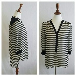 LC Lauren Conrad Striped Tunic