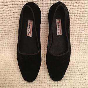 Talbots Shoes - Talbots Black Velvet Smoking Shoe