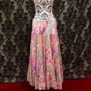 Stunning Ralph Lauren Boho Paisley Prairie Skirt