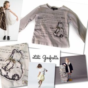 Lili Gaufrette Other - LILI GAUFRETTE BEAR STORYBOOK TEE SHIRT TOP SZ 23M