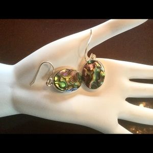 Jewelry - Abalone Shell Sterling Silver Earrings