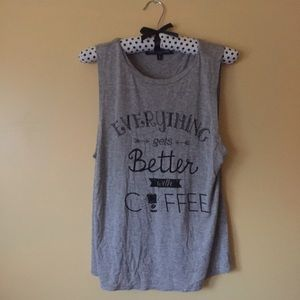 one clothing Tops - Everything Gets Better With Coffee Tank Top