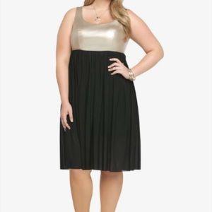 Torrid Gold and Black Dress