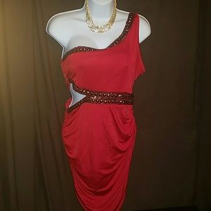 Bebe cut out dress valentines red !