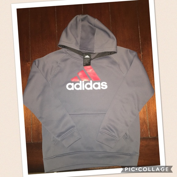 34aeebccaa05 Adidas Gray Climawarm Boys Hoodie