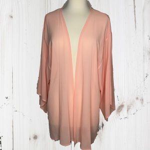 Peach Love California Tops - Peach Solid Kimono