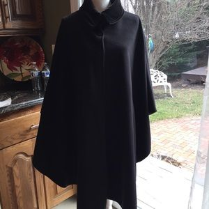 Courtney & Co. Jackets & Blazers - Courtney and Co. black cape with velvet collar. OS