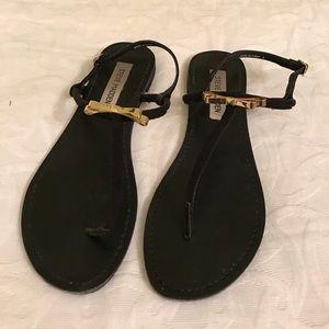 Steve Madden Shoes - Steve Madden Black, Bow Flat Sandals