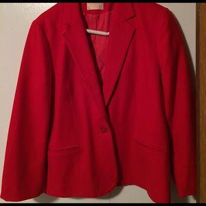 Ladies Pendleton Red Wool blazer/jacket 8-10 small