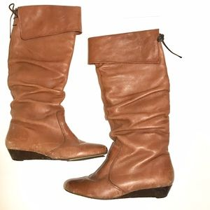 Aldo Shoes - Brown wedged boots