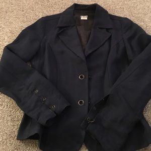 United Colors Of Benetton Jackets & Blazers - United Color navy linen blazer