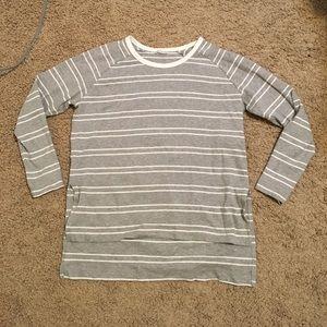 Zara long sleeve grey stripe t