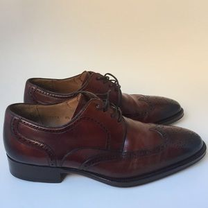 Magnanni Other - Magnanni Leather Wing Tip Oxfords