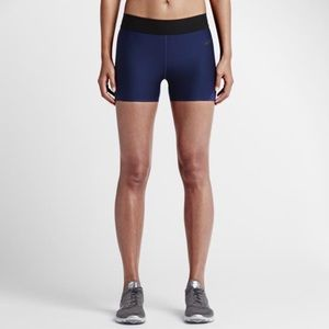 NikeLab Compression Shorts-Navy with Black Accents