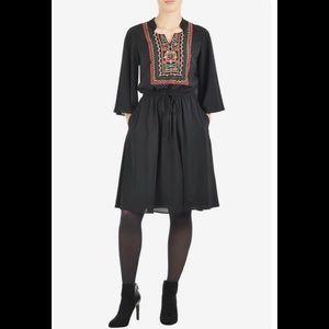 eshakti Dresses & Skirts - New Eshakti Black Boho Blouson Dress 20W