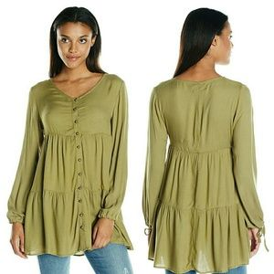 MINKPINK Dresses & Skirts - S,M MINKPINK Olive Peasant Dress / Tunic NWT