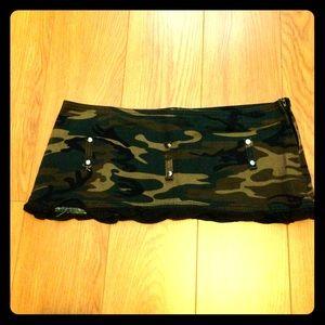 Micro mini altered camp print Lip Service skirt S