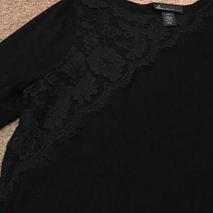 NWOT 18/20 Lane Bryant black eyelash lace sweater