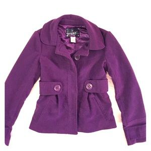 Jack by BB Dakota Jackets & Blazers - Jack by BB Dakota Purple Pea Coat