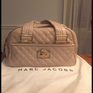 Blush patent quilted Ursula Marc Jacobs bowler bag