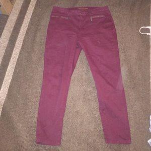 Michael kors maroon high waisted skinny jeans