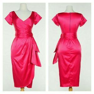 Pinup Girl Clothing Ava Dress Hot Pink PUG Large