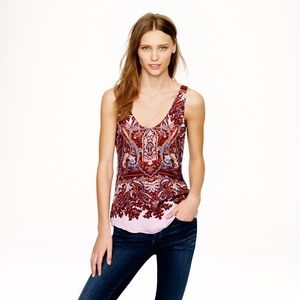 J. Crew Tops - J Crew Cate Cami Tank Top in Iced Lilac Paisley