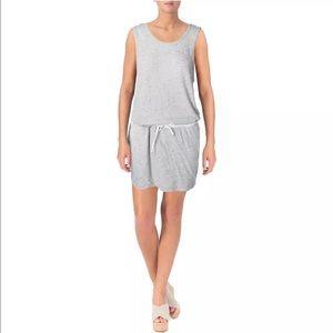 Monrow Dresses & Skirts - Monroe Heather Gray Drop Waist slub Casual DressXS