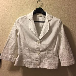 Chico's size 1 white jacket
