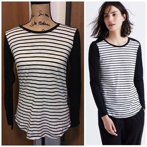 SOLD Madewell Whisper Cotton Stripe Crewneck Shirt