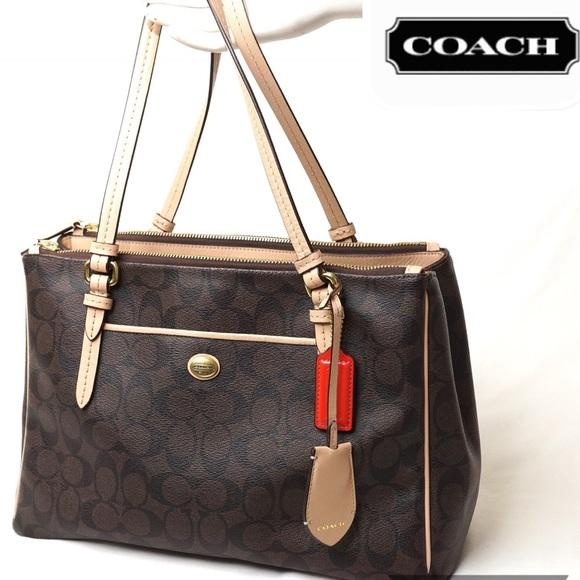 a82e1da7a0d Coach Handbags - ❤️COACH Peyton Double Zip Carryall Purse F26187