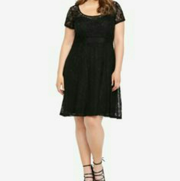 b4d36bf3d25a  SALE  NWT Torrid Illusion Black Lace Dress sz 12