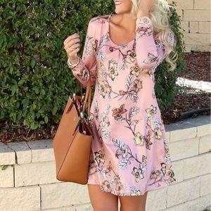 Dresses & Skirts - Pink, Floral Dress