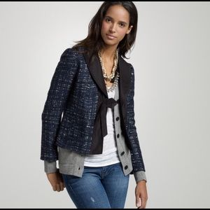 J. Crew Midnight Tweed Gala Jacket Size 8