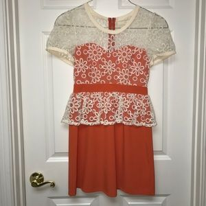 Dresses & Skirts - Orange, Flower Dress
