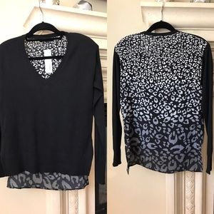 Central Park West Tops - Mixed Material Top