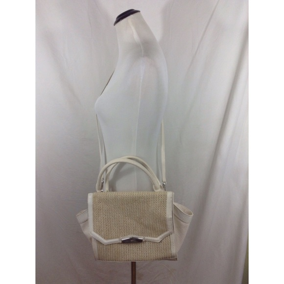 Simply Vera Vera Wang Bags - SIMPLY VERA large faux crock+whicker crossbody bag