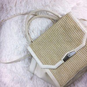 Simply Vera Vera Wang Handbags - SIMPLY VERA large faux crock+whicker crossbody bag
