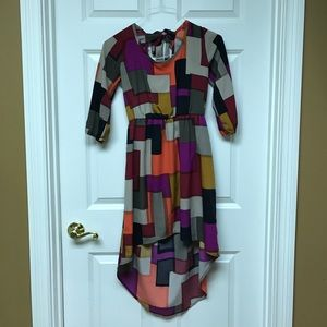 Dresses & Skirts - Geometric, High-Low Dress
