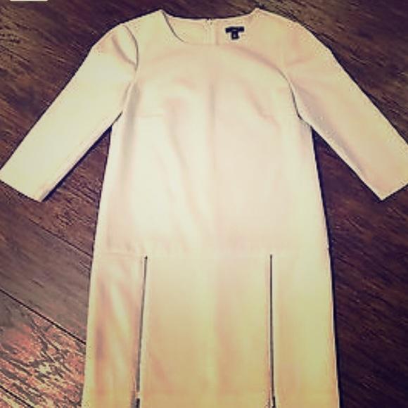 2d55202680 Ann Taylor Dresses & Skirts - Ann Taylor winter white zipper mini dress