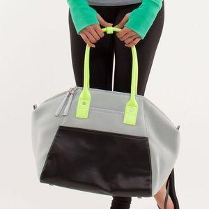 lululemon athletica Handbags - NWT Lululemon Vinyasa to Vino Bag in Silver/Black