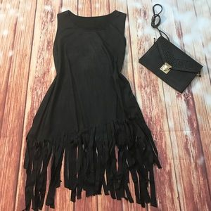 Tops - Faux Suede Fringe Tank