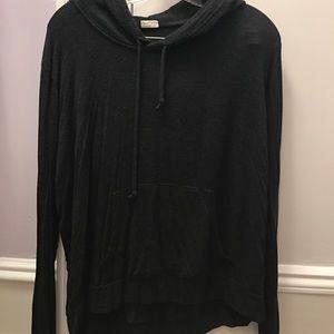 Brandy Melville dark gray/black pullover hoodie